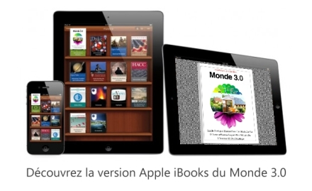 Annonce Monde 3.0 en version Apple iBooks