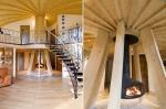Domespace 10/11 - Pose de la cheminée et de l'escalier.