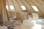 Domespace 7/11 - Début de l'agencement intérieur.